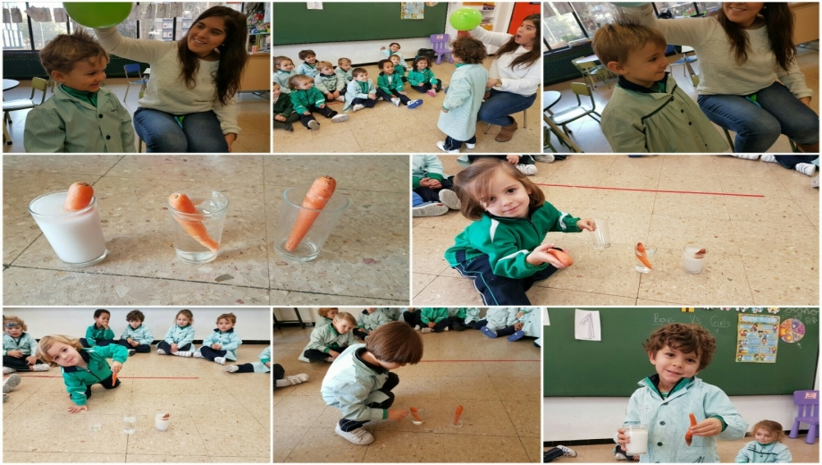 Alumnos de 3 años en la semana de la ciencia