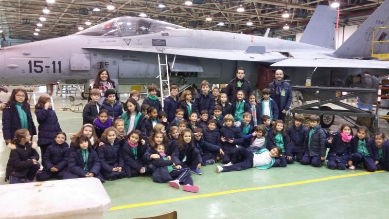 Visita a la base a rea colegio santa rosa zaragoza for Menu colegio base